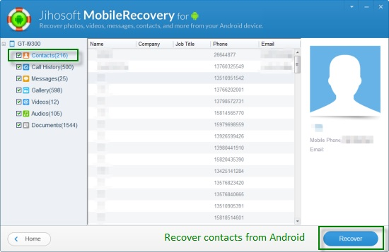 Jihost Android Phone Recovery